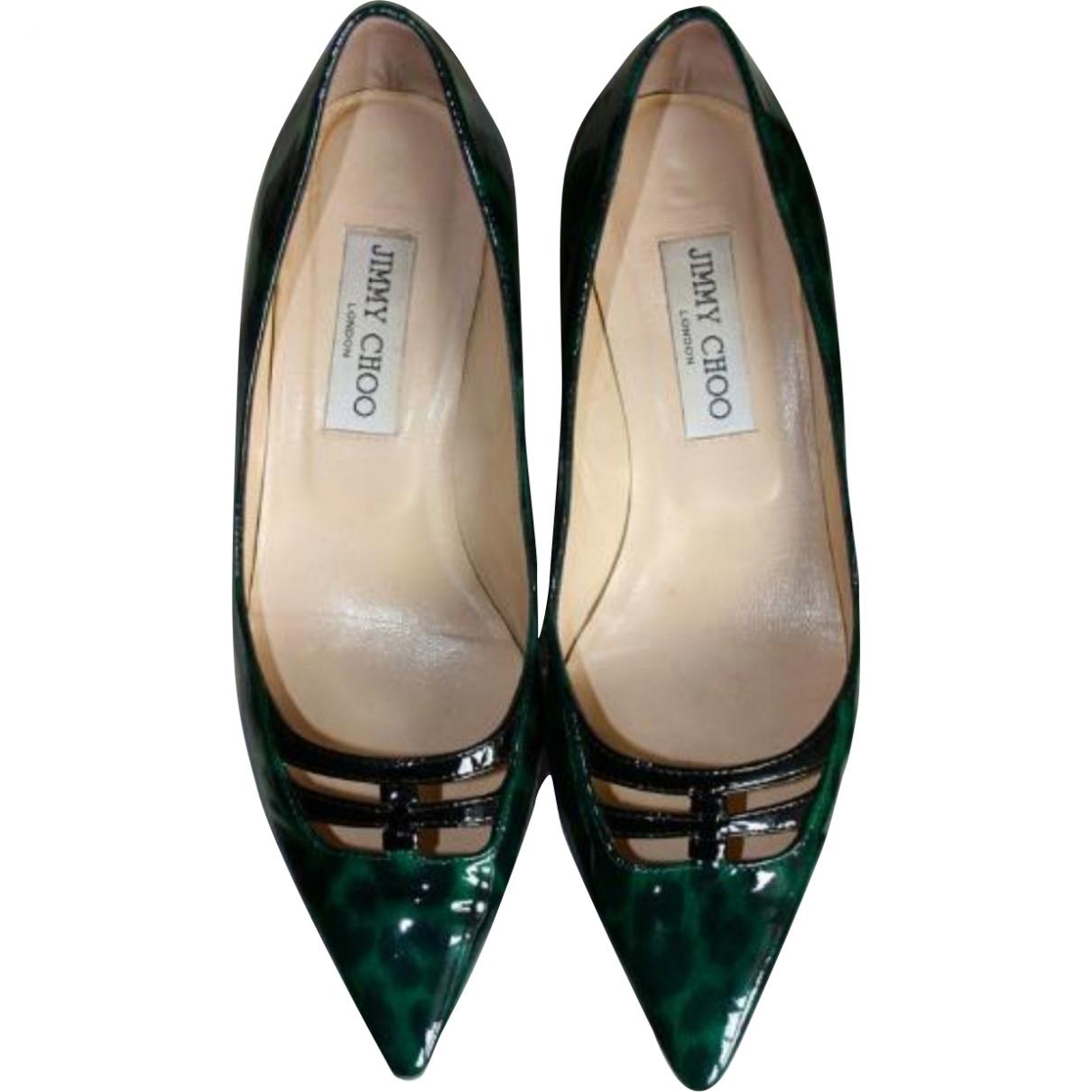 Jimmy Choo \N Patent leather Heels for Women 37 EU