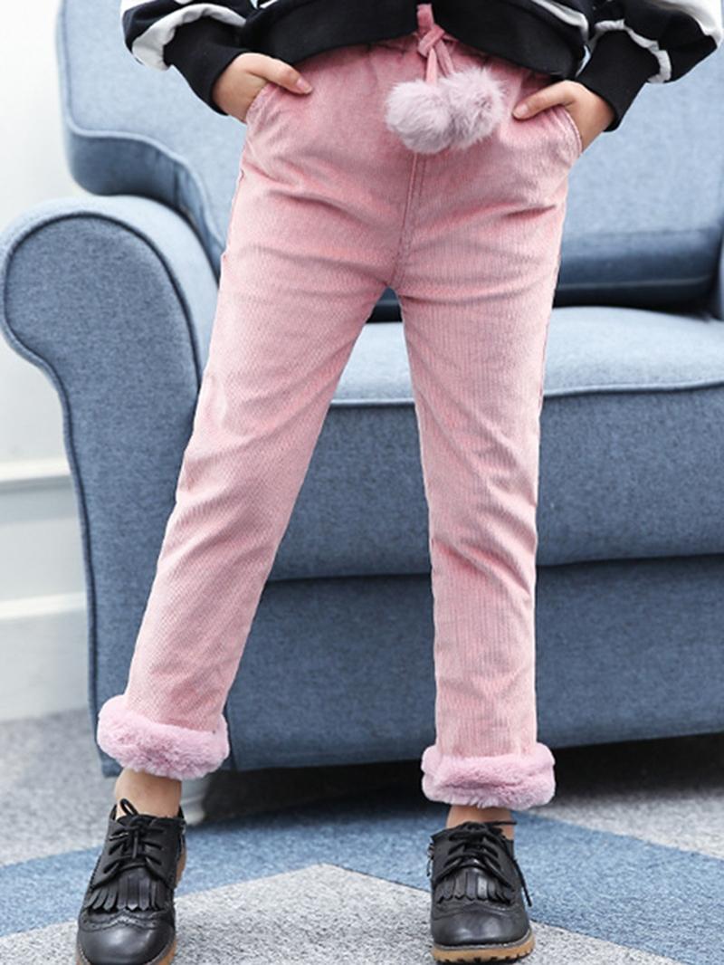 Ericdress Corduroy Fleece Girl's Winter Pants