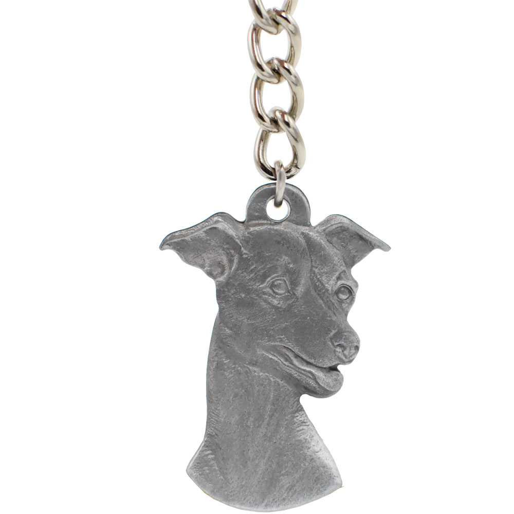 Dog Breed Keychain USA Pewter - Italian Greyhound (2.5