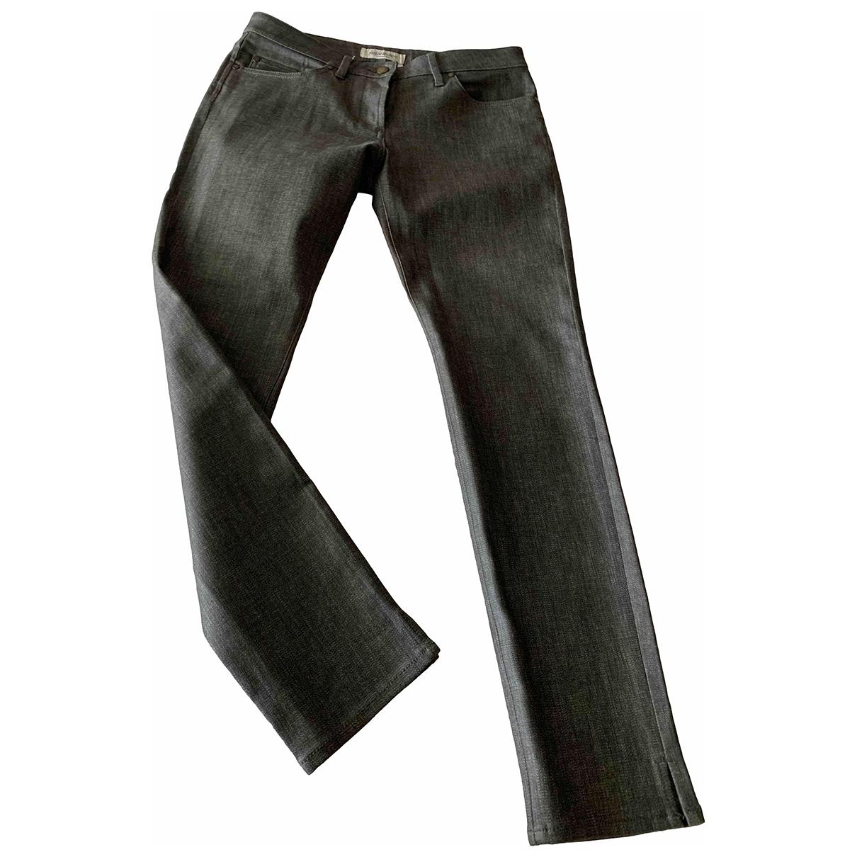 Yves Saint Laurent \N Grey Cotton Jeans for Women 42 FR