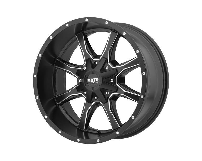 Moto Metal MO97078080900US MO970 Wheel 17x8 8x165.1 0 Satin Black Milled