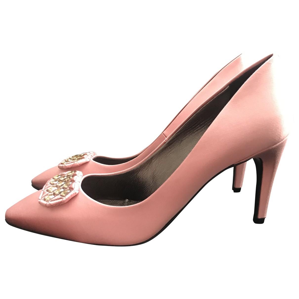 Bottega Veneta \N Pink Cloth Heels for Women 40.5 EU
