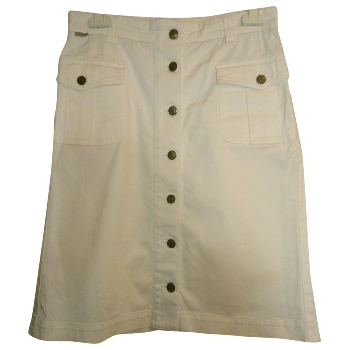 Burberry \N White Cotton skirt for Women 8 UK