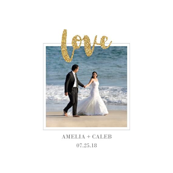 Love Canvas Print, 12x12, Home Décor -Love Glitter