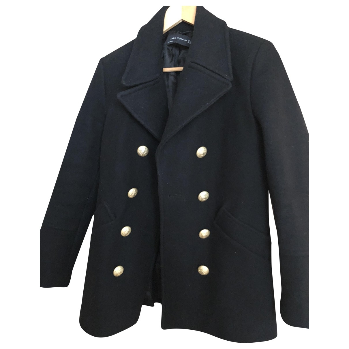 Zara \N Black Wool coat for Women XS International