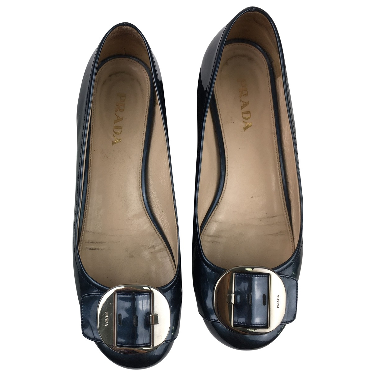 Prada \N Blue Patent leather Ballet flats for Women 39 EU