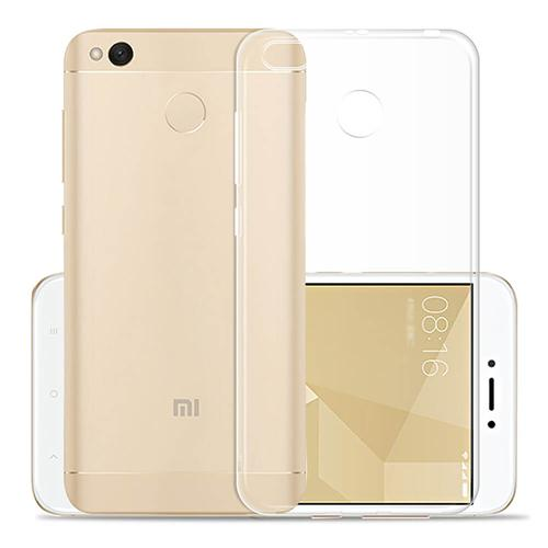 Silicon Back Cover High Quality Protective Soft Case Phone Shell Screen Protector For Redmi 4X - Transparent