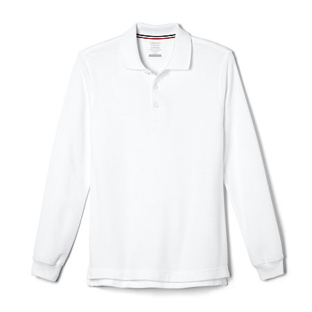 French Toast Little & Big Boys Long Sleeve Polo Shirt, X-small , White