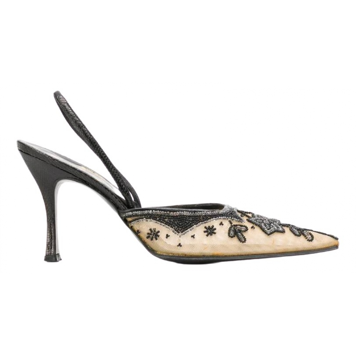 Rene Caovilla \N Beige Leather Heels for Women 37 IT