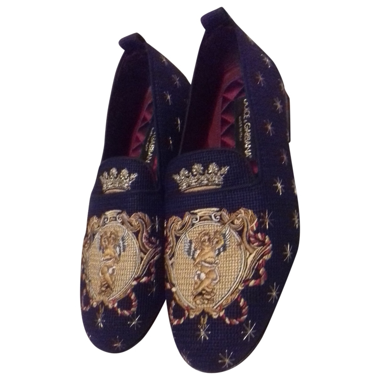 Dolce & Gabbana \N Black Cloth Flats for Men 39 EU