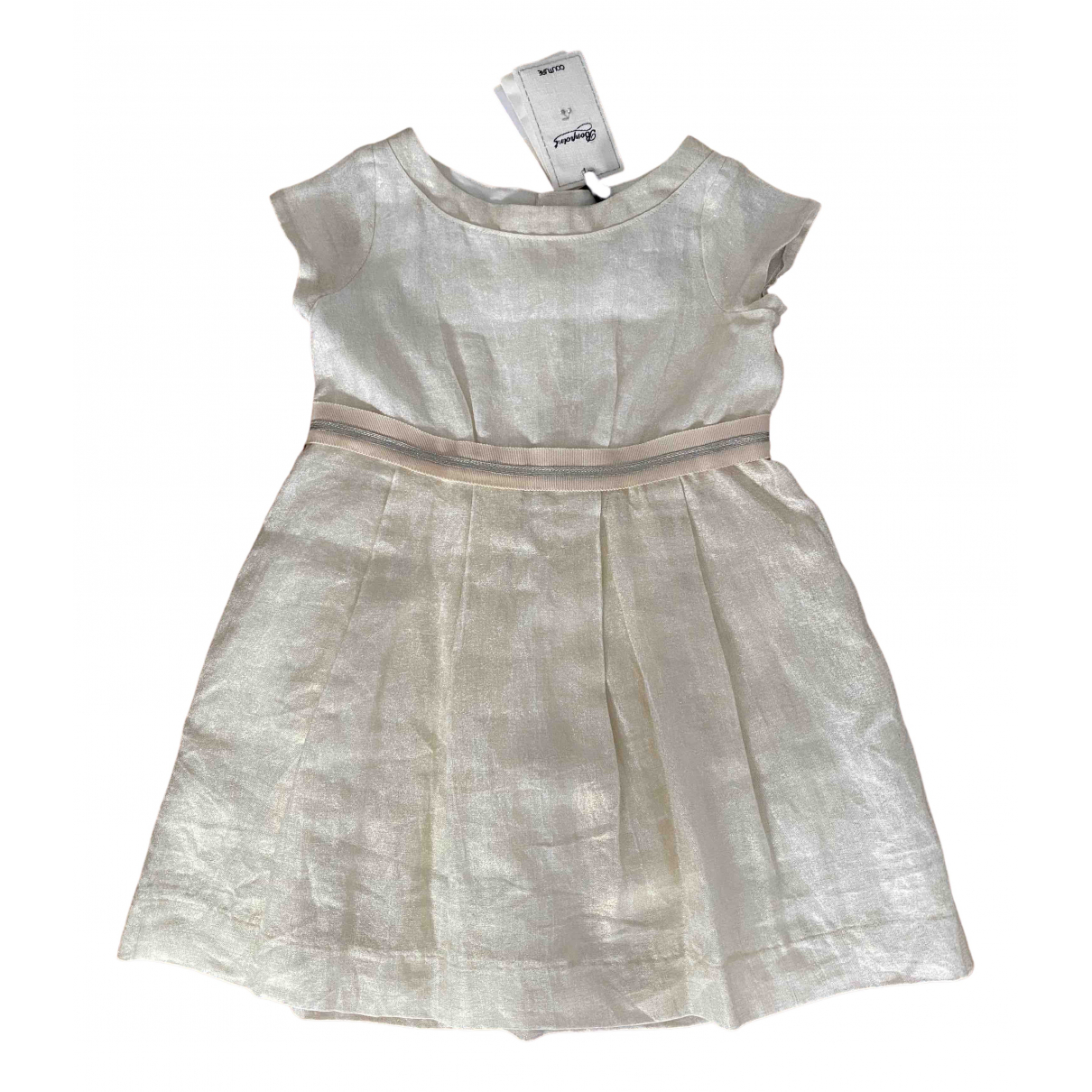 Bonpoint \N Gold Linen dress for Kids 4 years - up to 102cm FR