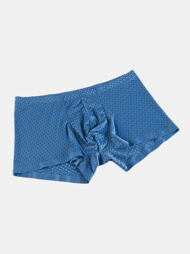 Hollowed Mesh Breathable Sport Boxers for Men