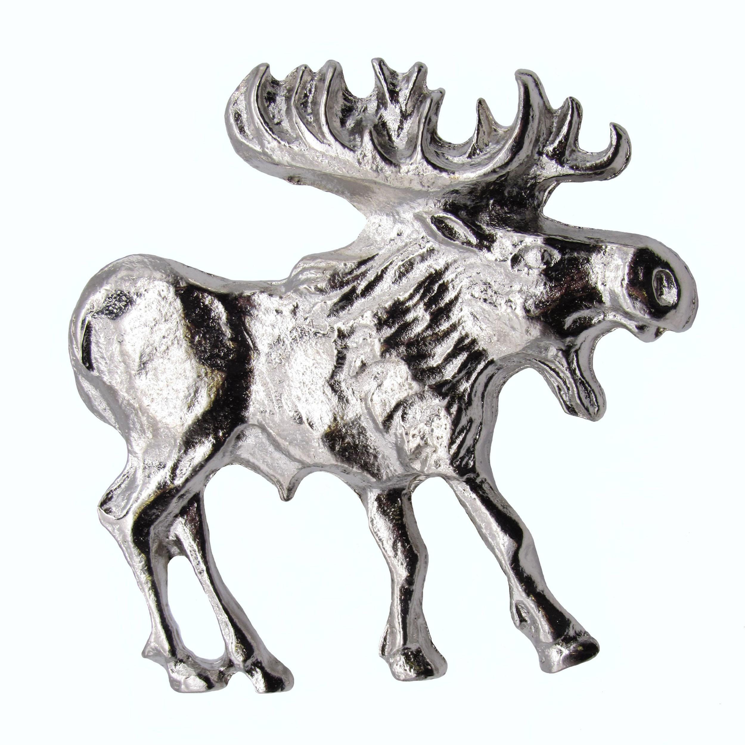 Walking Moose Pull, Right, Nickel, Model 183N