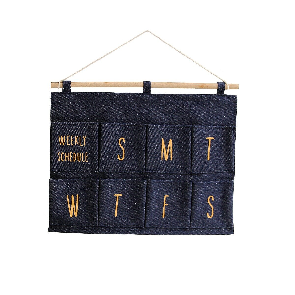 Wall Hanging Storage Bag Organizer Pockets Concise Northen Style Cotton Canvas Stuff Holding Bag