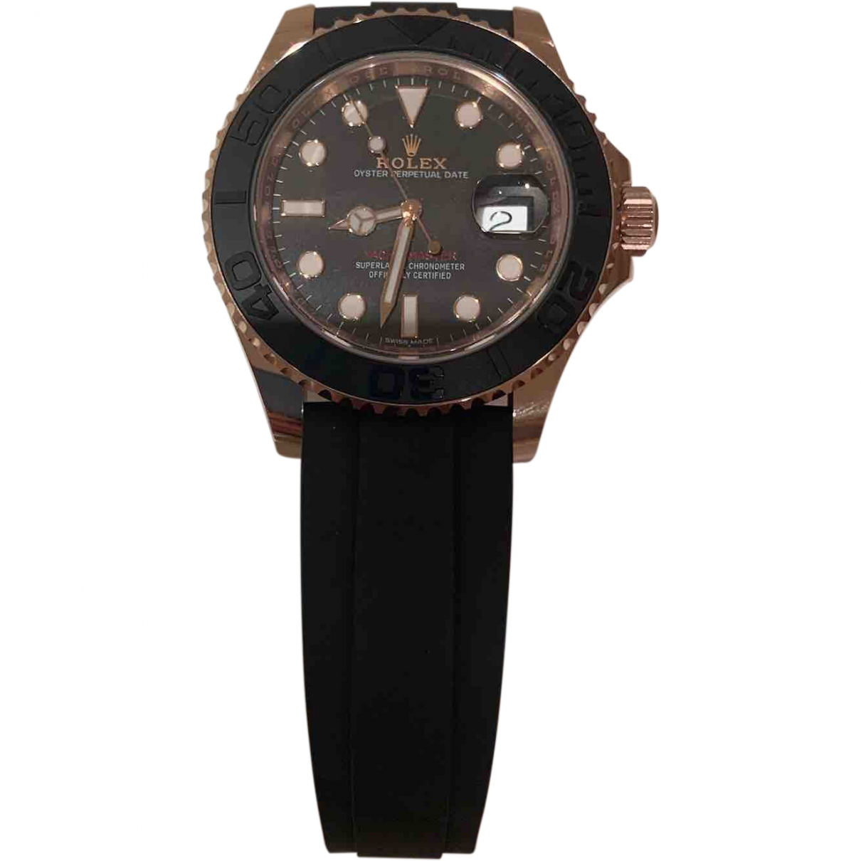 Rolex Yacht-Master Black Pink gold watch for Men \N