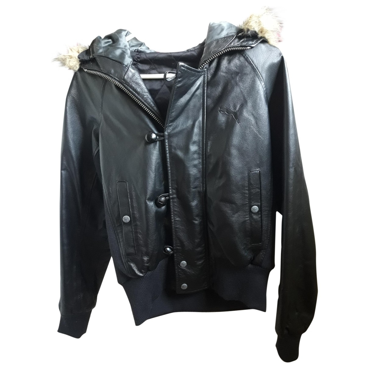 Puma \N Black Leather Leather jacket for Women M International