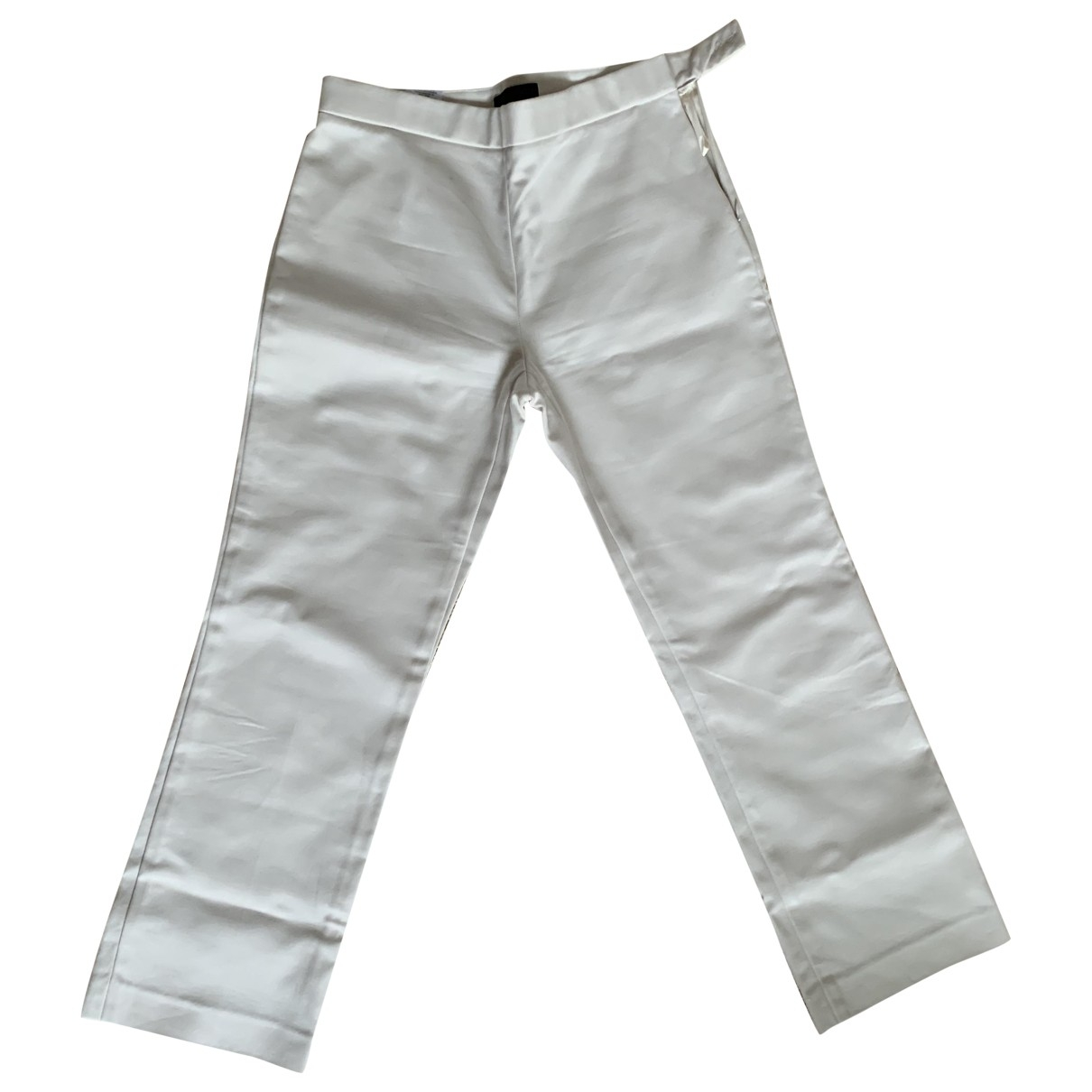 The Row \N Ecru Cotton Trousers for Women 1 US