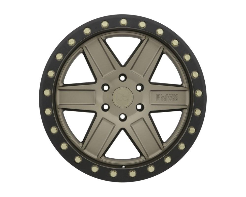 Black Rhino Attica Wheel 20x9.5 5x139.70|5x5.5 0mm Matte Bronze w/ Black Lip & Brass Bolts