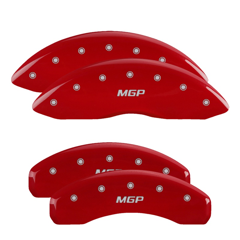 MGP Caliper Covers 10128SMGPRD Set of 4: Red finish, Silver MGP / MGP Ford Taurus 2010-2012