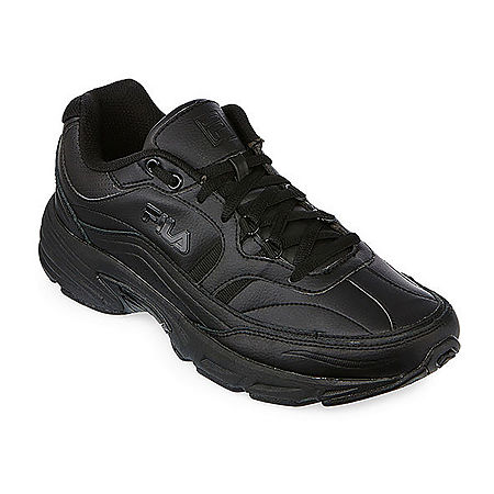 Fila Memory Workshift Mens Slip-Resistant Work Shoes, 11 1/2 Extra Wide, Black