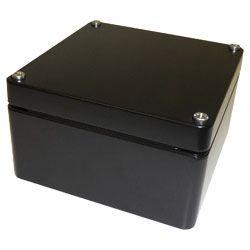 Deltron Black Die Cast Aluminium Enclosure, IP66, IP67, 125 x 125 x 80mm