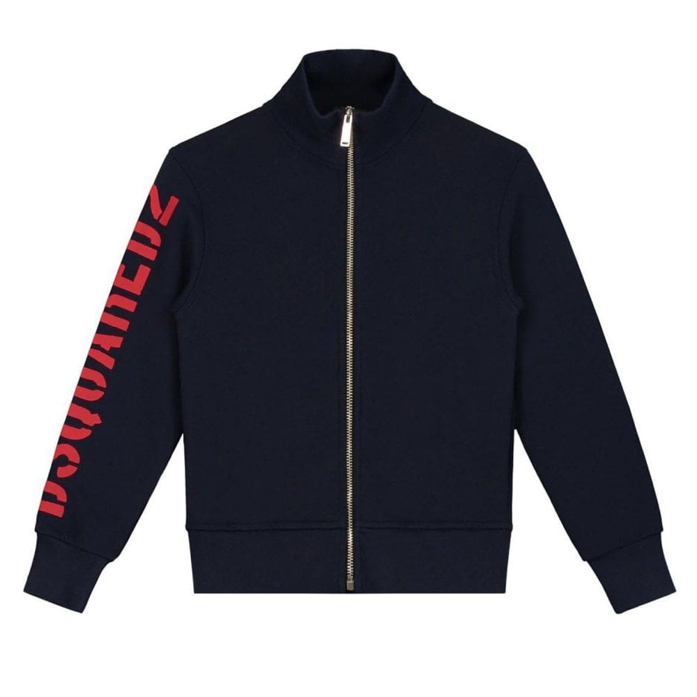 Dsquared2 Zip Sweatshirt Colour: NAVY, Size: 12 YEARS