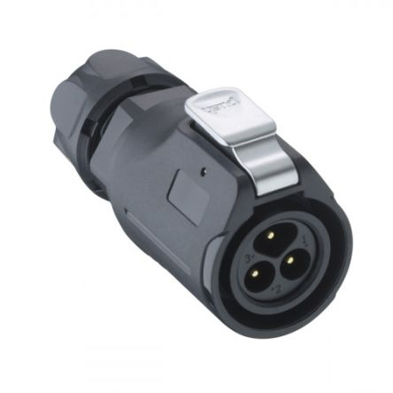 Lumberg Circular Connector, 3 contacts Cable Mount Plug, Solder IP67