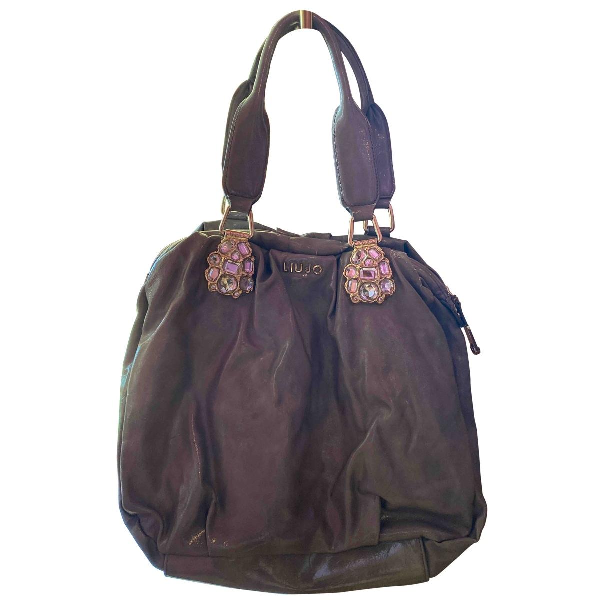 Liu.jo \N Grey Leather handbag for Women \N