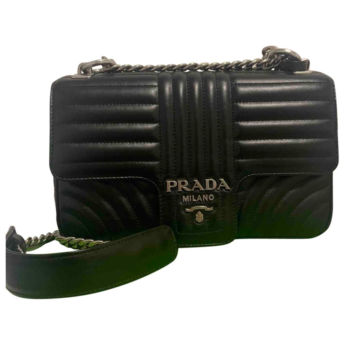 Prada Diagramme Black Leather handbag for Women \N