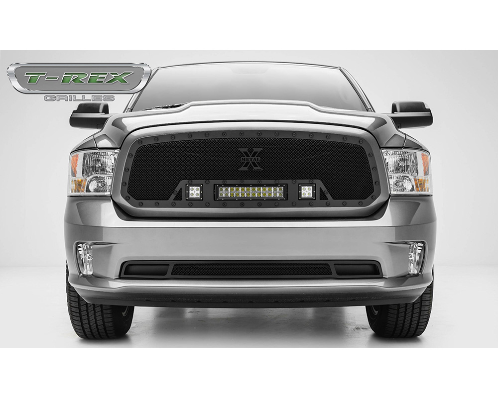 2013-2018 Ram 1500 Stealth Torch Grille, Black, 1 Pc, Insert, Black Studs, Incl. (2) 3