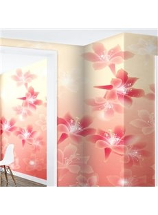 Pink and Red Lilies 3D Waterproof Wall Mural