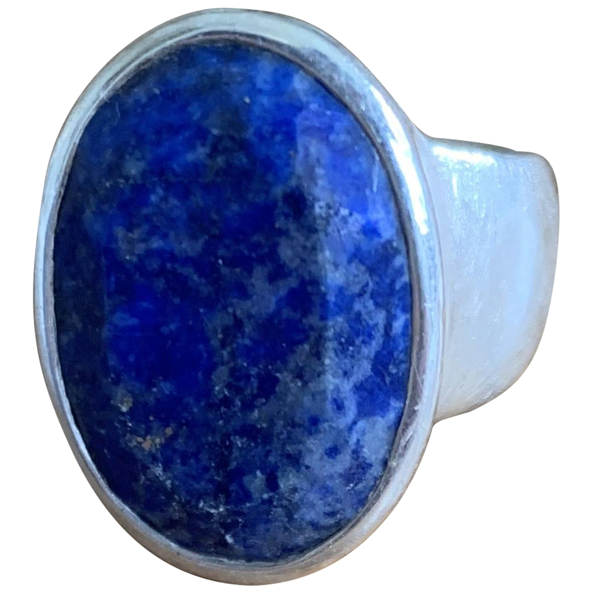 Non Signé / Unsigned Motifs Ethniques Navy Silver ring for Women \N