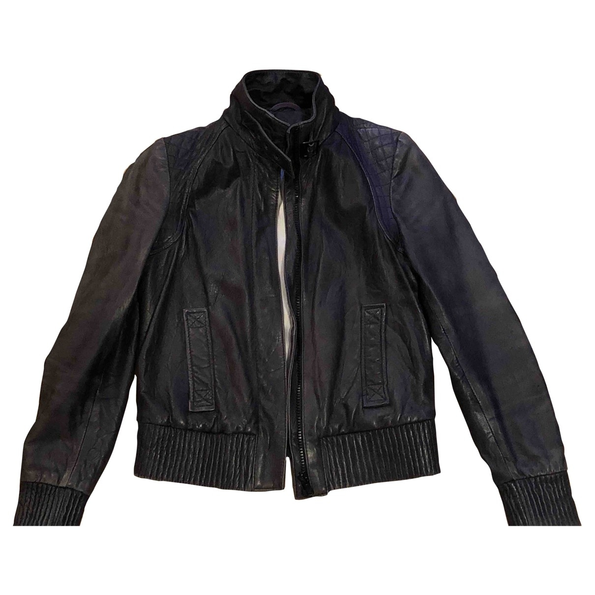 Drykorn \N Anthracite Leather jacket for Women 38 FR