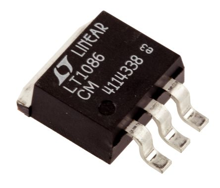 Analog Devices LT1086CM#PBF, LDO Regulator, 1.5A Adjustable, 1.2 → 15 V 3-Pin, D2PAK