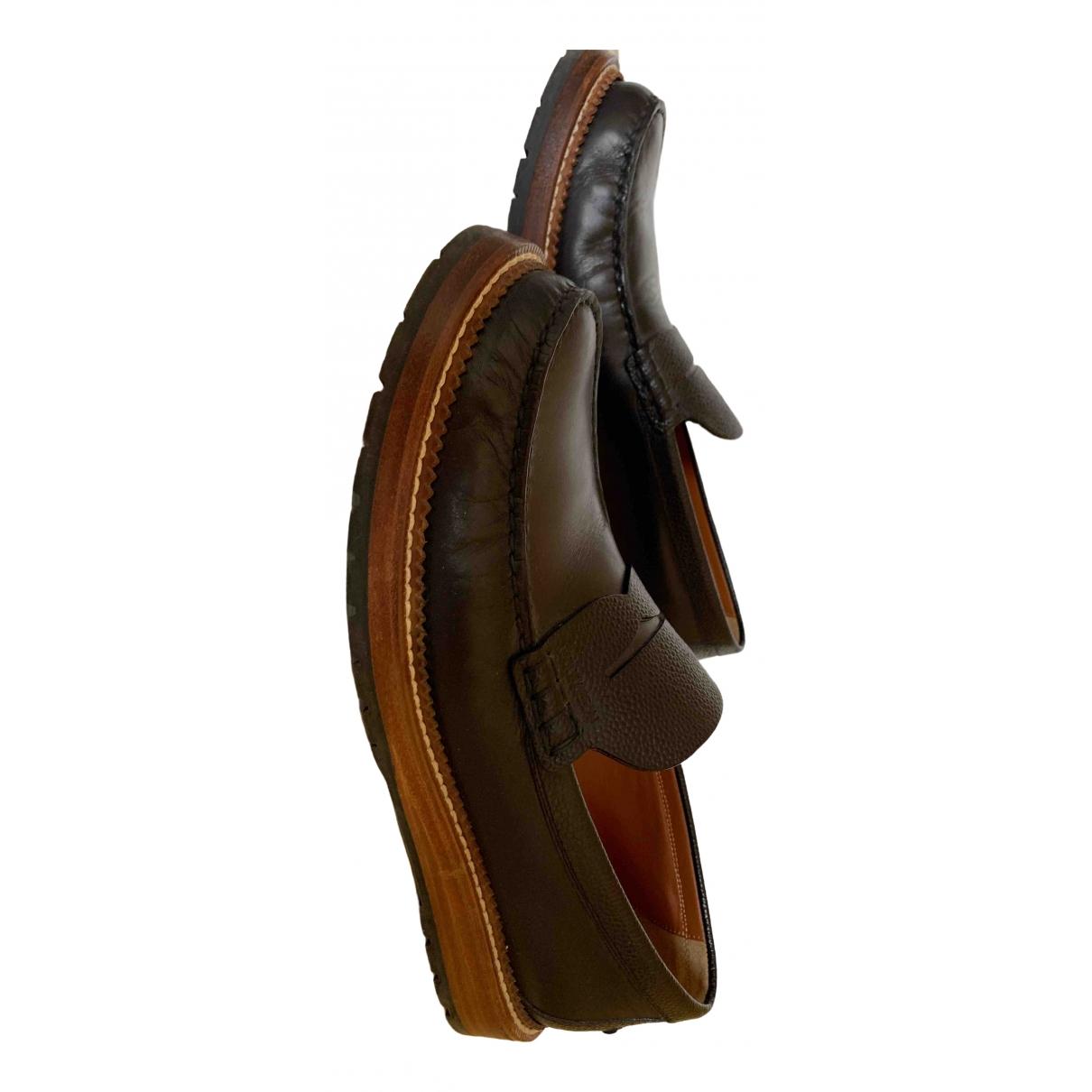 Louis Vuitton \N Black Leather Flats for Men 42 EU