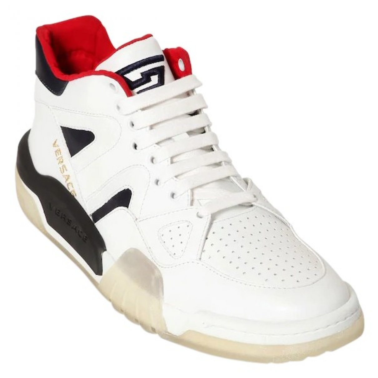 Versace \N White Leather Trainers for Men 39 EU