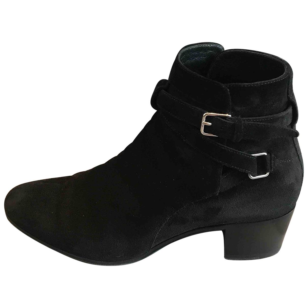 Saint Laurent Blaze Black Suede Ankle boots for Women 39 EU