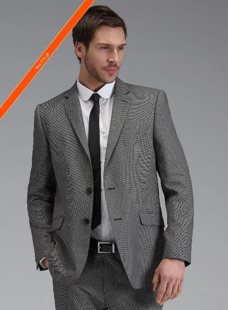 Mens Grey Slim Fit Suit in 2Button