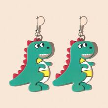 Girls Dinosaur Charm Drop Earrings