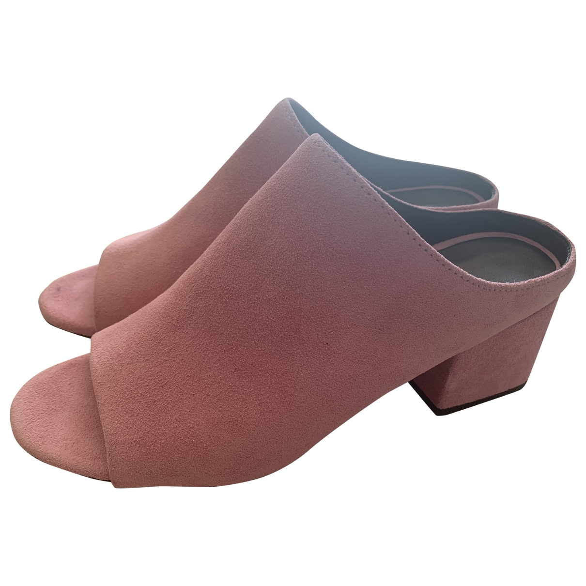 3.1 Phillip Lim \N Pink Suede Mules & Clogs for Women 36.5 EU