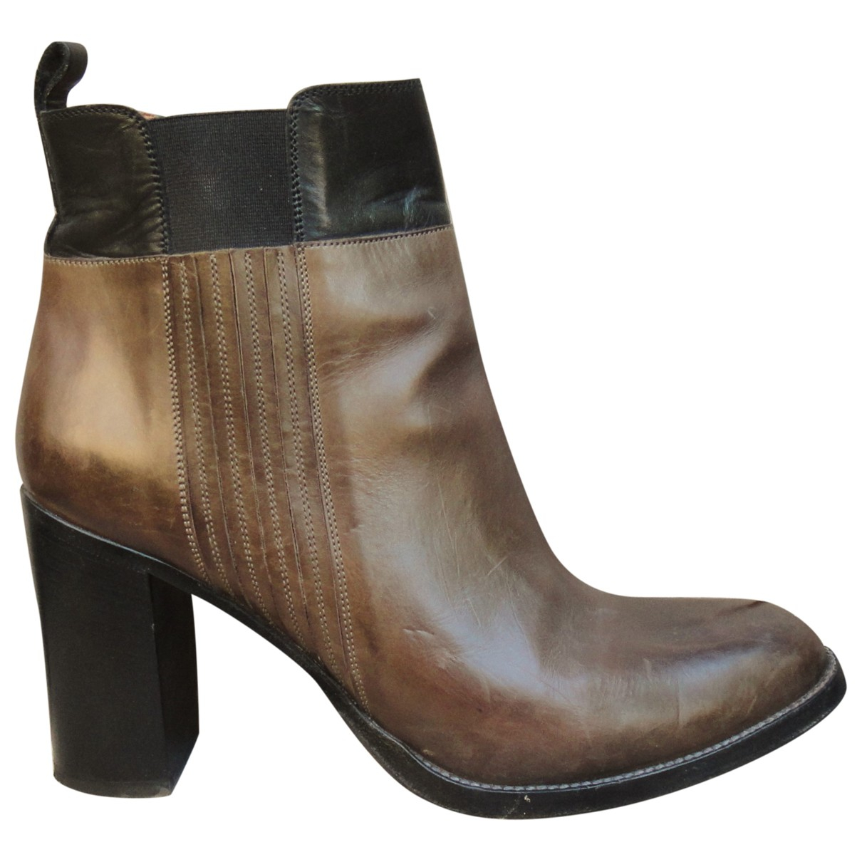 Sartore \N Brown Leather Ankle boots for Women 39.5 IT