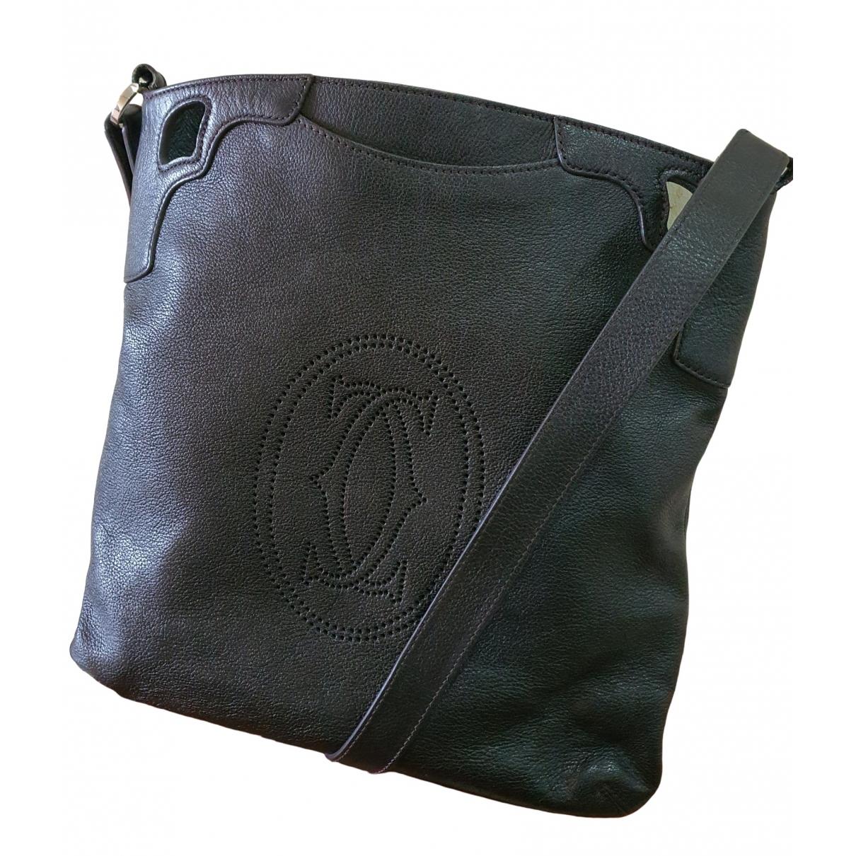 Cartier \N Black Leather handbag for Women \N