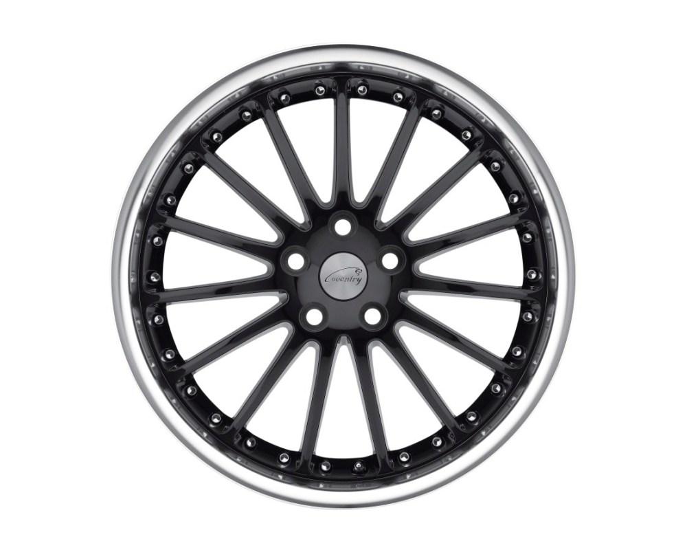 Coventry 2010COW255121B73 Whitley Wheel 20x10 5x120.65|5x4.75 25mm Gloss Black w/ Mirror Cut Lip