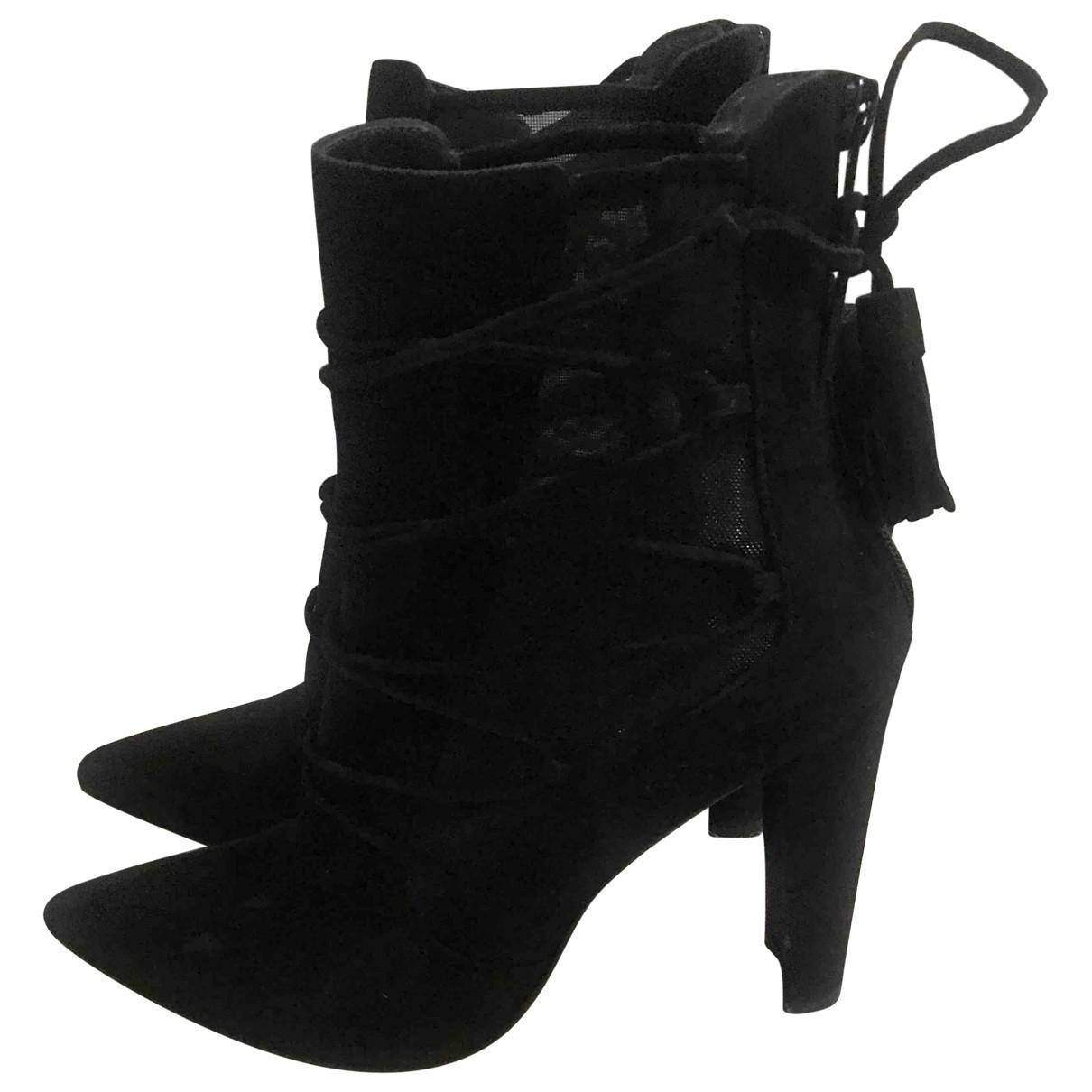 Stuart Weitzman \N Black Suede Ankle boots for Women 38 EU