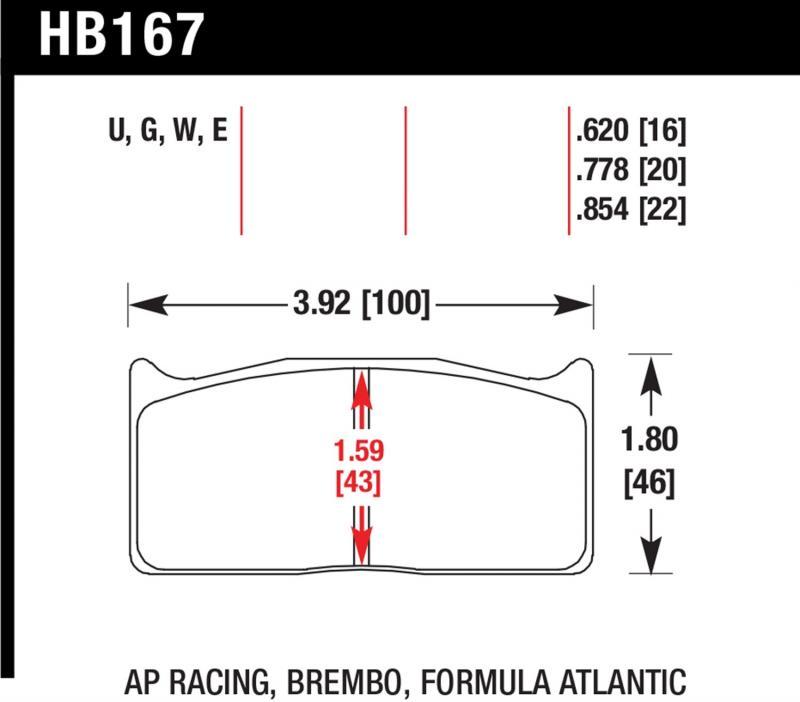 Hawk Performance HB167E.620 Disc Brake Pad