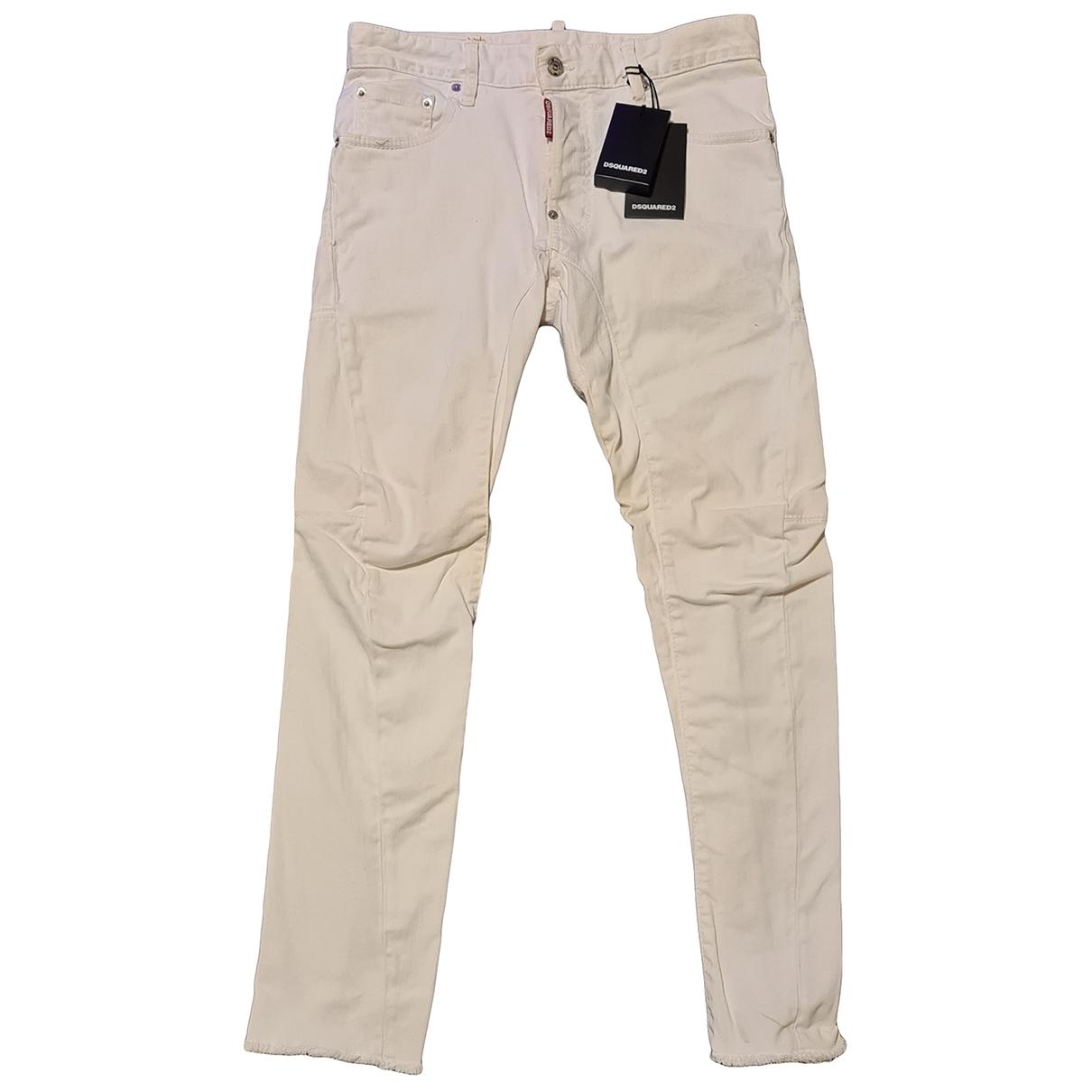 Dsquared2 \N White Cotton Jeans for Men 38 - 40 FR