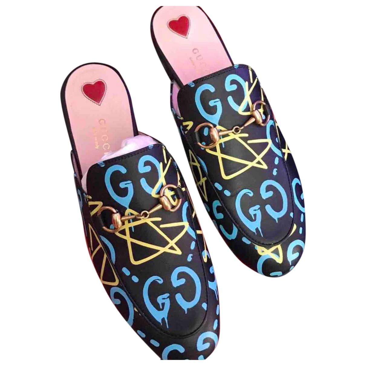 Gucci Princetown Black Leather Flats for Women 37 EU