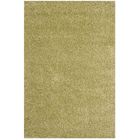 Safavieh Santa Monica Shag Collection Ainsley Solid Area Rug, One Size , Green