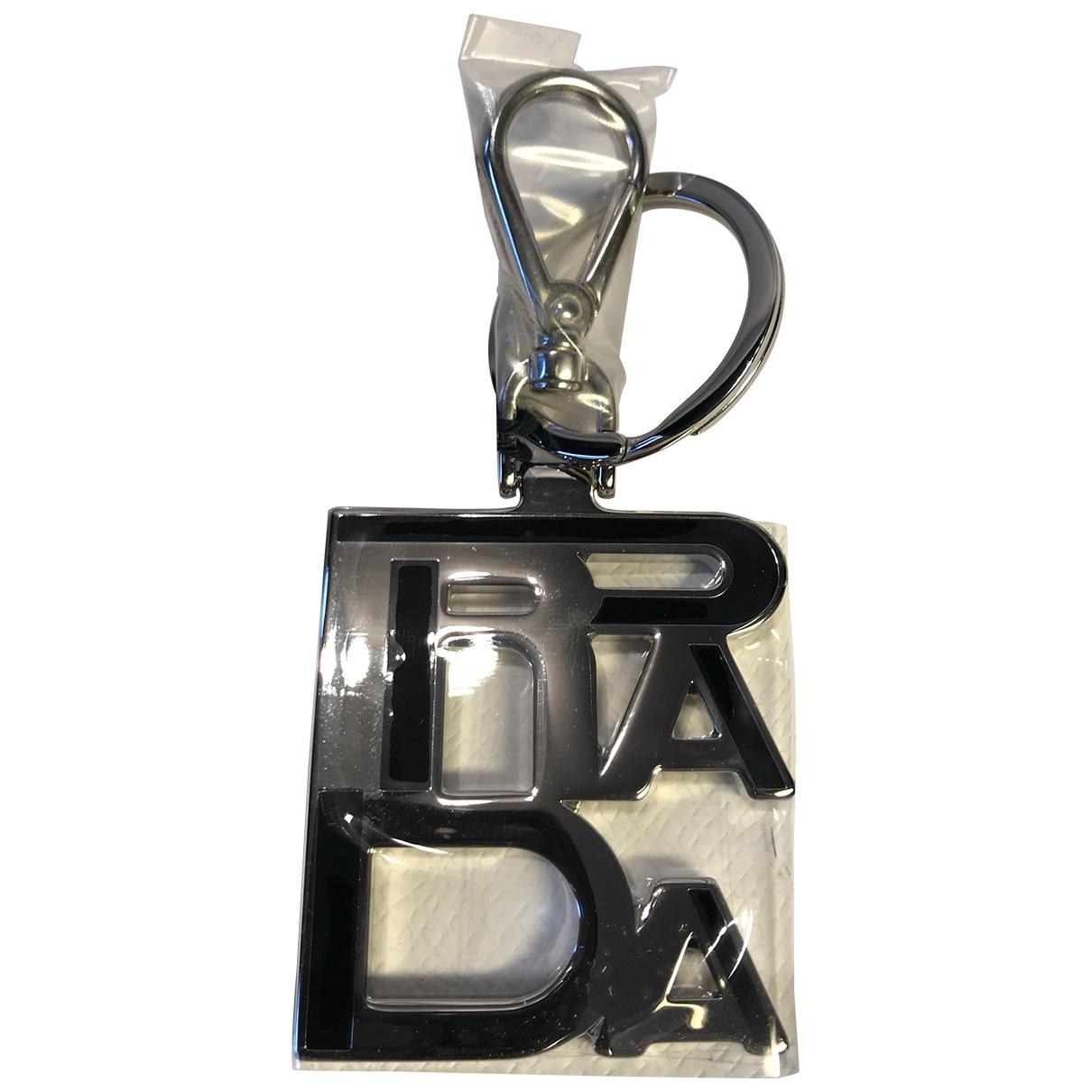 Prada \N Black Metal Bag charms for Women \N