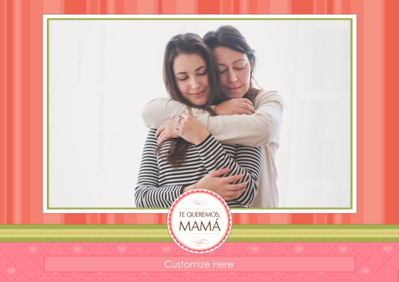 Mother's Day Cards 5x7 Cards, Premium Cardstock 120lb with Rounded Corners, Card & Stationery -Te Queremos, Mama